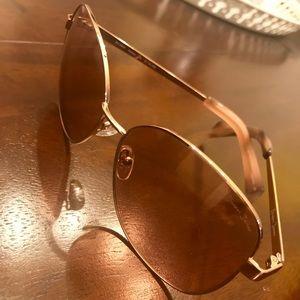 Draper James Rose Gold Aviator Sunglasses
